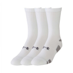 Hokejové Ponožky Under Armour set 3ks Heatgear Crew White